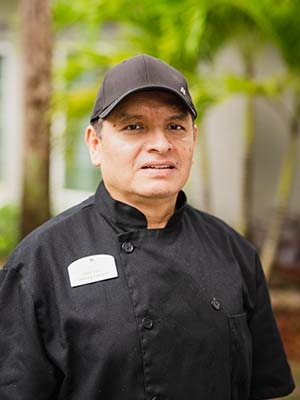 Faustino Martinez Culinary Director at The Colonnade at Northdale assisted living and memory care community in Tampa, FL