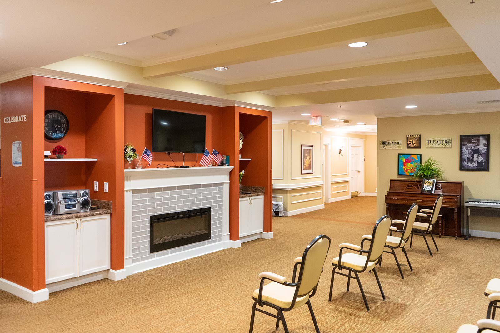 Activity area at The Colonnade at Northdale assisted living and memory care community in Tampa, FL
