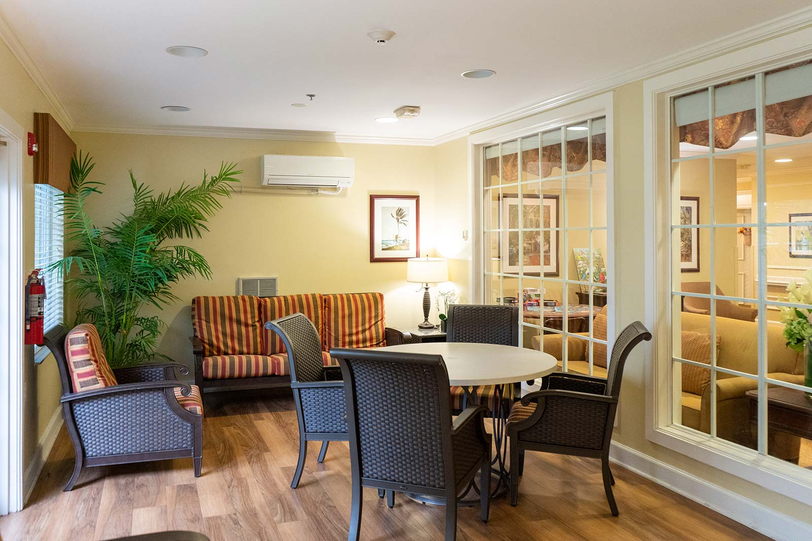 Sun room at The Colonnade at Northdale assisted living and memory care community in Tampa, FL